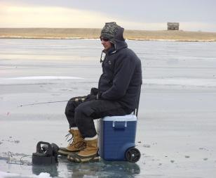 Ice Fishing Rattlesnake