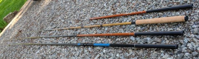 An assortment of Tenkara Rods